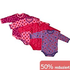 Pippi Baby-Body im 4er-Pack