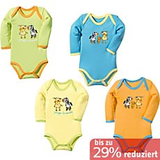 Baby Butt Interlock-Jersey Body Langarm im 4er-Pack