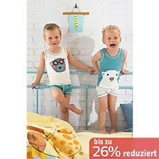 Kinderbutt Single-Jersey Unterhemd im 2er-Pack