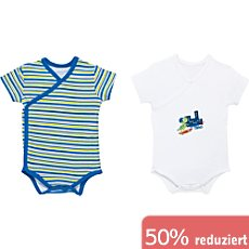 Boley Interlock-Jersey Baby-Wickelbody im 2er-Pack