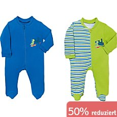 Boley Interlock-Jersey Baby-Schlafanzug im 2er-Pack
