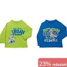 Boley Interlock-Jersey Baby-Langarmshirt im 2er-Pack