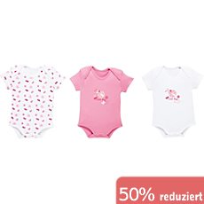 Boley Interlock-Jersey Baby-Body im 3er-Pack
