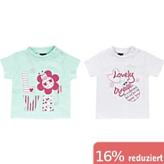Boley Interlock-Jersey Baby-T-Shirt im 2er-Pack