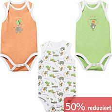 Erwin Müller Interlock-Jersey Baby-Body ohne Arm im 3er-Pack