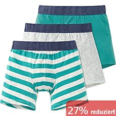 Schiesser Single-Jersey Jungen-Shorts im 3er-Pack