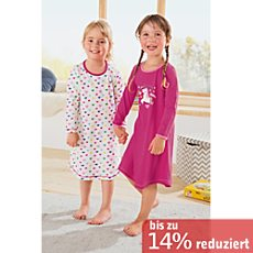 Kinderbutt Single-Jersey Nachthemd im 2er-Pack