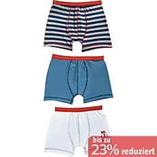 Erwin Müller Single-Jersey Jungen-Shorts im 3er-Pack