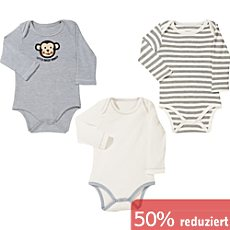 Erwin Müller Interlock-Jersey Baby-Body im 3er-Pack