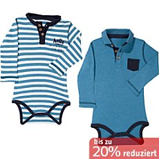 Baby Butt Interlock-Jersey Body Langarm im 2er-Pack