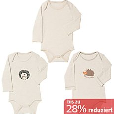 Baby Butt Interlock-Jersey Body, Langarm im 3er-Pack