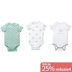 Baby Butt Single-Jersey Body Kurzarm im 3er-Pack