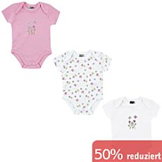 Boley Interlock-Jersey Baby-Body, Kurzarm im 3er-Pack