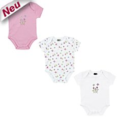 Boley Interlock-Jersey Body, Kurzarm im 3er-Pack