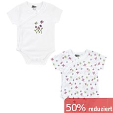 Boley Interlock-Jersey Baby-Wickelbody, Kurzarm im 2er-Pack