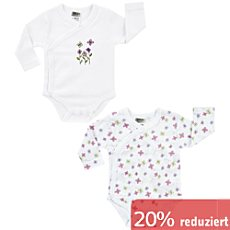 Boley Interlock-Jersey Baby-Wickelbody, Langarm im 2er-Pack