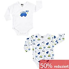 Boley Interlock-Jersey Baby-Wickelbody,Langarm im 2er-Pack