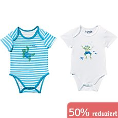 Carodel Single-Jersey Baby-Body kurzarm im 2er-Pack