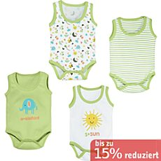 Erwin Müller Interlock-Jersey Body ohne Arm im 4er-Pack
