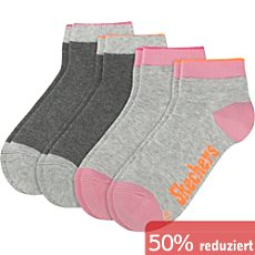 Skechers Kinder Quarter-Socken im 4er-Pack