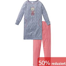 Schiesser Single-Jersey Kinder-Nachthemd mit Leggings