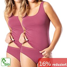 Pompadour Single-Jersey Bio-Slip im 2er-Pack