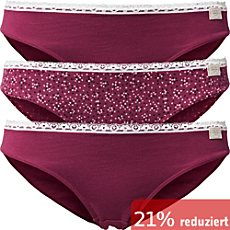 ESPRIT Single-Jersey Damen-Bikinislip im 3er-Pack