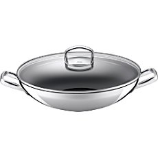 Silit  wok with glass lid, induction