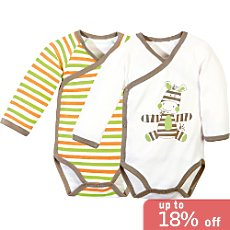 Pack of 2 Baby Butt long sleeve bodysuits