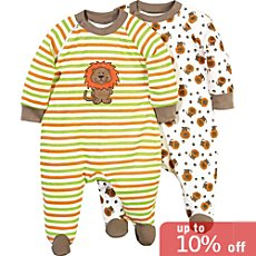 Pack of 2 Baby Butt sleepsuits