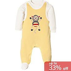 Baby Butt top & dungarees set