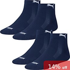 Pack of 2 Puma  quarter socks