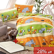 Erwin Müller 3-pc duvet cover set, animals