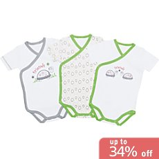 Pack of 3 Baby Butt wrap style bodysuits