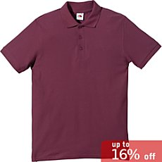 Fruit of the Loom polo shirt.