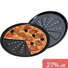 Pack of 2 pizza pans