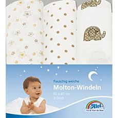 Pack of 3 Alvi molleton squares