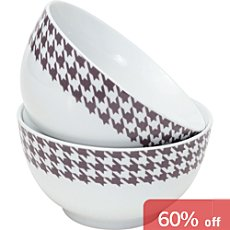Pack of 2 Gepolana cereal bowls