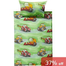 Kinderbutt 3-pc Renforcé duvet cover set, tractor