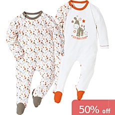 Pack of 2 Erwin Müller sleepsuits