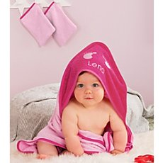 Kinderbutt 3-pc towel set with name embroidery