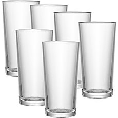6-pack long drink glasses