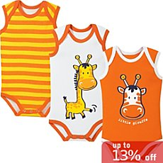 Baby Butt 3-pack sleeveless bodysuits