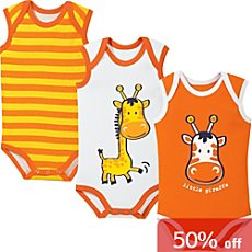 Erwin Müller 3-pack sleeveless bodysuits
