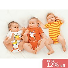 Baby Butt 3-pack short sleeve bodysuits