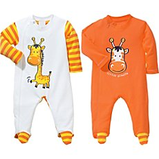 Baby Butt 2-pack sleepsuits