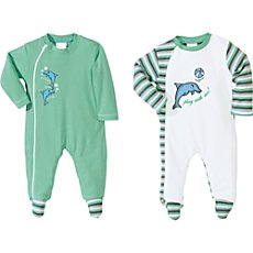 Baby Butt  sleepsuits in double pack