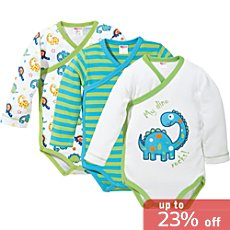 Baby Butt  3-pack wrap bodysuits