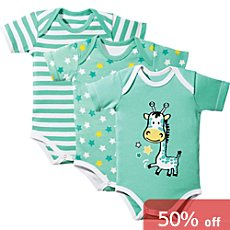 Erwin Müller  3-pack baby bodysuits