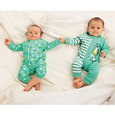 Erwin Müller interlock jersey sleepsuits in double pack